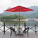 NatureFun 9ft Patio Market Umbrella with Tilt and Crank Burgundy Review