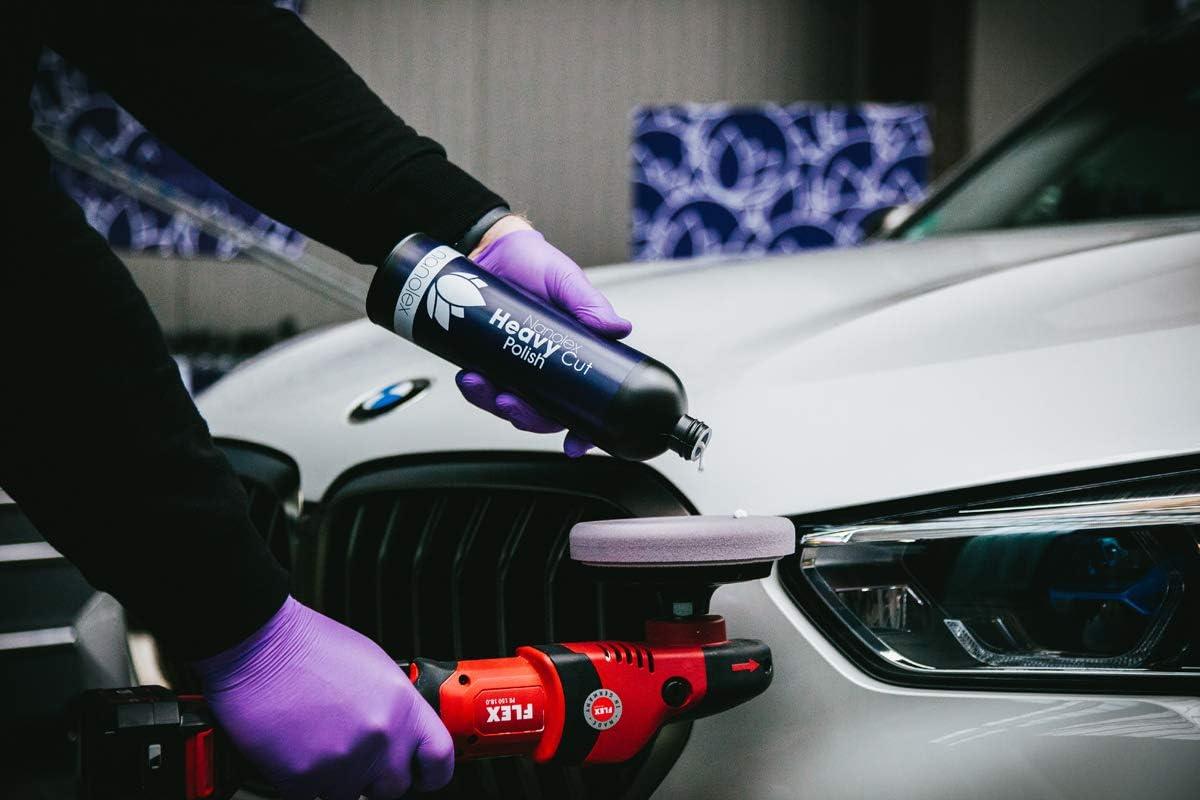 Nanolex Heavy Cut Politur Premium Schleifpolitur Schleifpaste Für Alle Autolacke Polierpaste Auto Entfernt Tiefe Kratzer Schleifspuren Bis 1 500er Körnung Silikonfreier Lackreiniger 1 X 750ml Auto