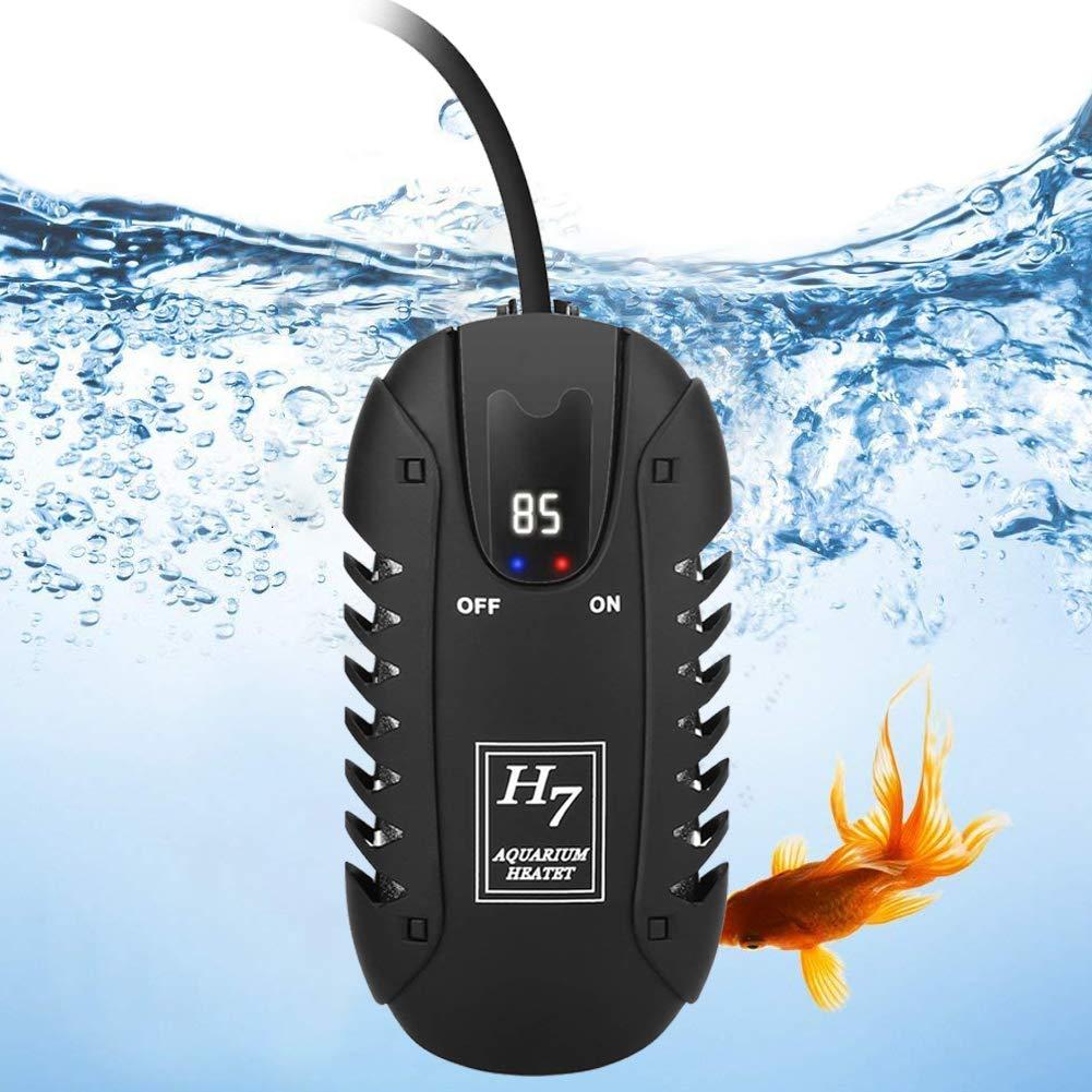 MingDak Submersible Aquarium Heater 25W, Fish Aquarium Heater with LED Temperature Display for 1-5 Gallon Fish Tank