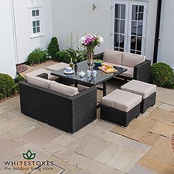 220cd18d452e Maze Rattan Cube Sofa Set - Black: Amazon.co.uk: Garden & Outdoors