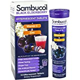 Sambucol Effervescent Tablets 15 Count Black Elderberry plus Vitamin C and Zinc Fizzy Immune Support Drink Tablets Caffeine Free Sugar Free High Antioxidant Levels