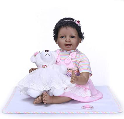 Pinky 22 Inch//55cm Soft Dolls Reborn Baby Girl Realistic Look Real Newborn Doll