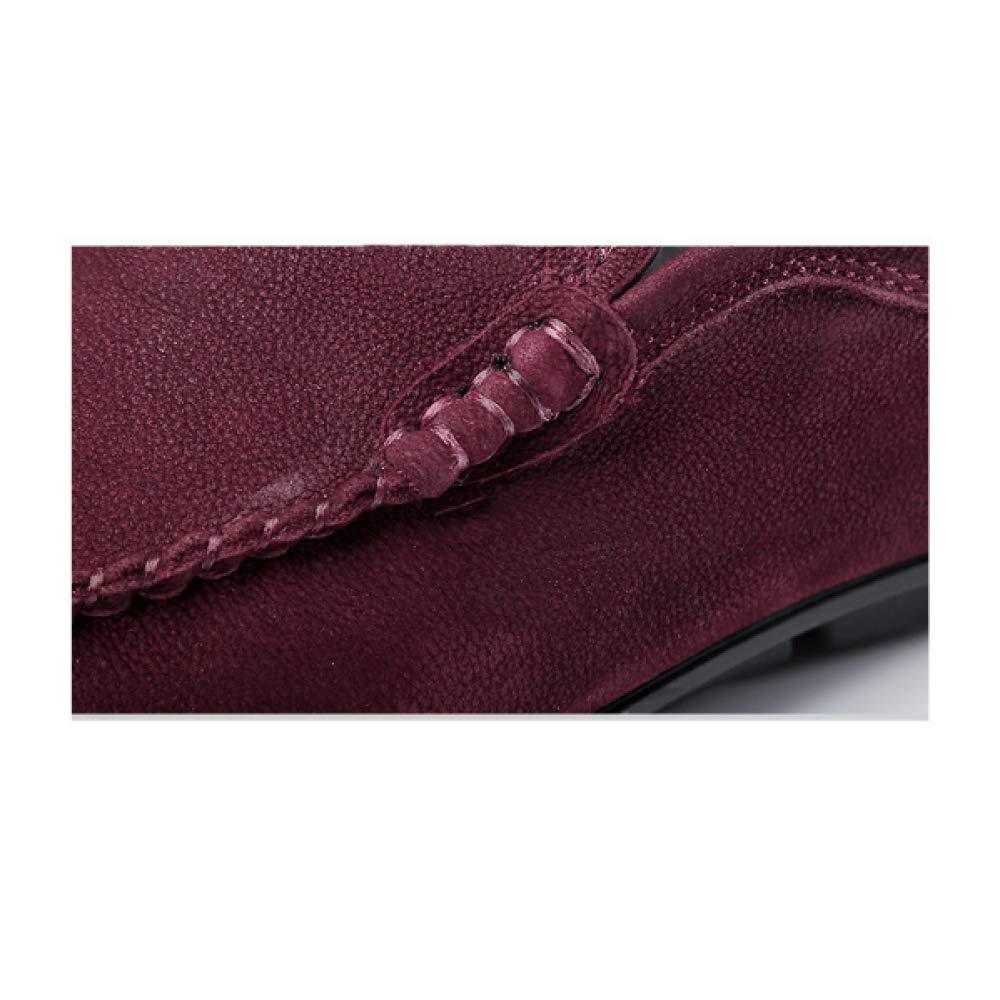 Männer Leder Schuhe Casual Korean Sport Fahren Faul Schuhe Korean Casual Fashion Fashion Wearable Braun d8414f