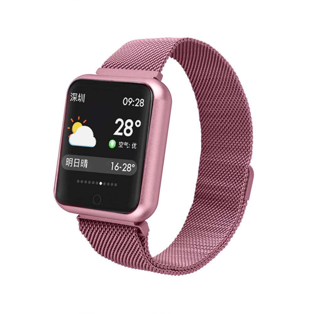 Smart Watch Color Screen, Businda Smartwatch Touch Screen Wrist Watch Waterproof Fitness Tracker Sports Blood Oxygen Activity Tracker Compatible with Android for women-Rose gold