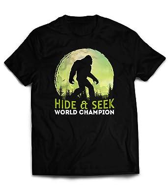 fecb5a84 Market Trendz Hide and Seek Sasquatch Bigfoot T-Shirt Hide and Seek World Champion  Bigfoot