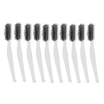 Mini juego de cepillo de alambre para limpieza de acero inoxidable soldadura escoria y óxido 7 pulgadas 10pcs: Amazon.es: Hogar