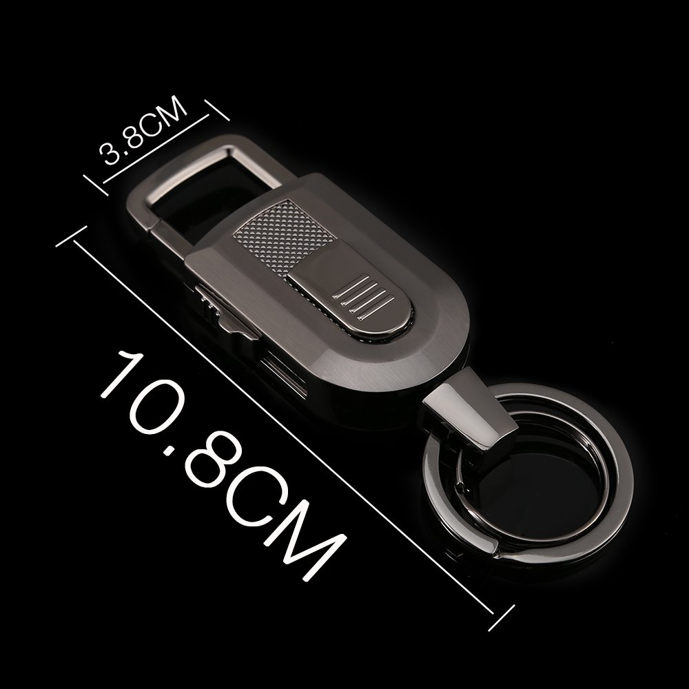 Keychain Flashlight with Windproof Flameless Electronic Cigarette Lighter and Bright LED Light, Lightweight and USB Rechargeable,Great Gift Ideals by Jobon (Image #5)