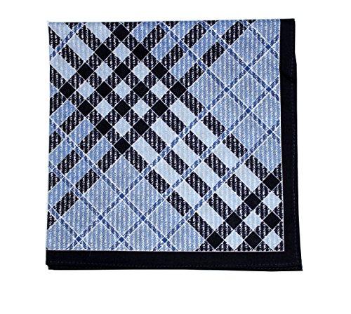 New Men's Cotton Handkerchief / Pocket Square 17X17 Inch Navy - Square New Pocket Mens