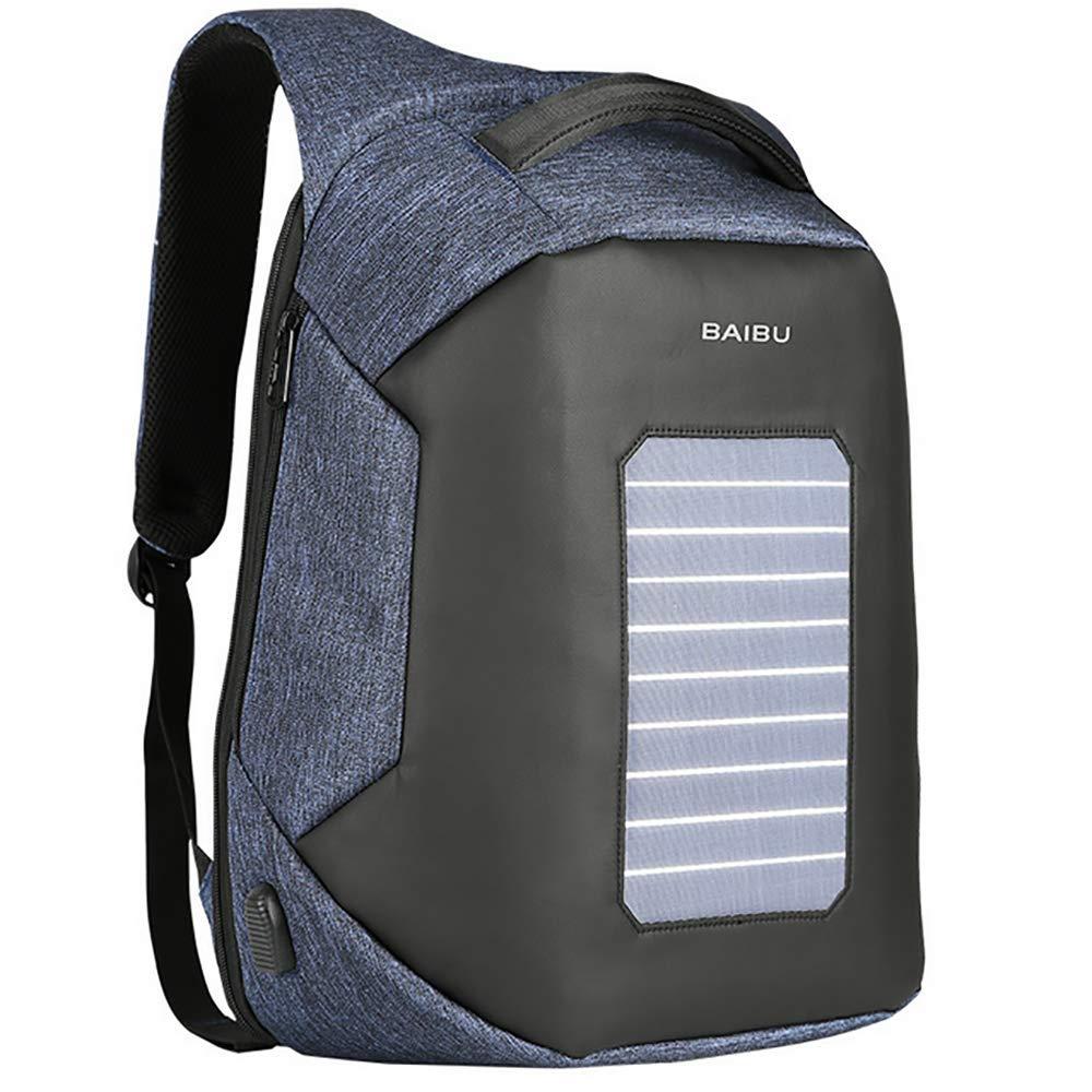 QCC&大容量ソーラーパワーハイキングデイパック 防水USBアウトドアバックパック ハイキング 旅行 サイクリング キャンプ 30L用  D B07GRRDN91