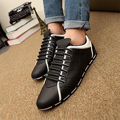 da Bianco Sneaker Lace Uomo Leisure Scarpe Light Ginnastica da Nero Super Flat UP Scarpe Heel da Sports Cricket BwEUp
