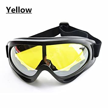 fd81900f86b WOLFBIKE Super Black Motorcycle Cycling Bicycle Bike ATV Motocross Ski  Snowboard Goggles (Black