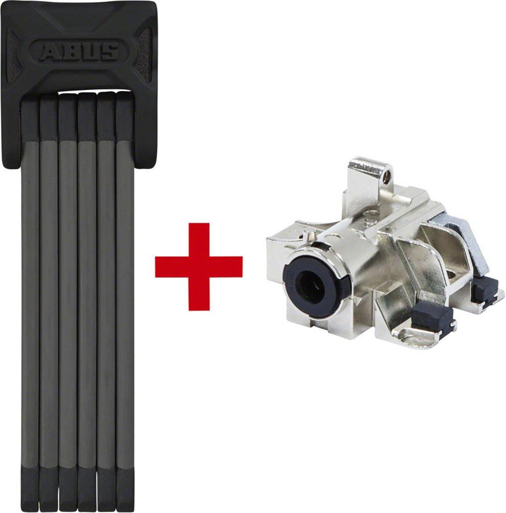 Abus Bordo 6015 + Bosch Plus Rh Faltschloss Für Rahmen-akku 2018 Kabel, schwarz, 90 cm