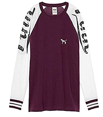 Amazon.com: Victoria's Secret PINK Bling Long Sleeve Raglan T ...