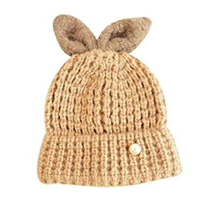 42e77402c1611 Amazon.com   PANDA SUPERSTORE Gift Warm Winter Hat Wool Hat Fashion Knitted  Hat Soft Stretch Knit Beanie Brown   Sports   Outdoors