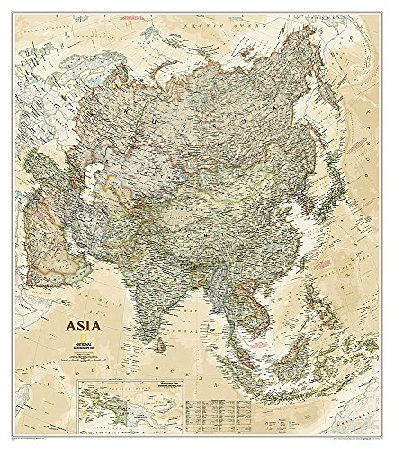 National Geographic: Asia Executive Wall Map (33.25 x 38 inches) (National Geographic Reference Map)