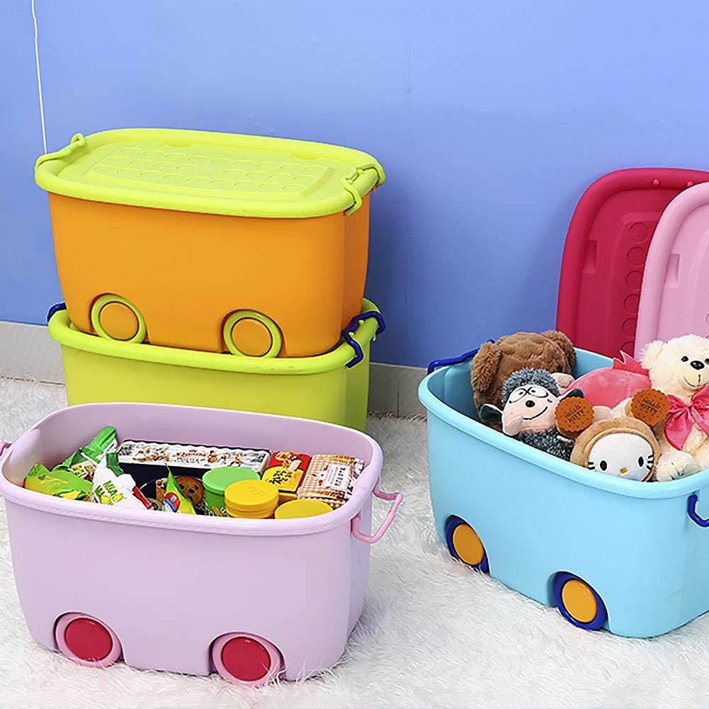 Toy Storage Box Storage Basket for Children Plastic with Lid Storage Box Clothing Blanket Storage Box Storage Case Storage Organizer Bedroom Storage Container Home Storage Kindergarten