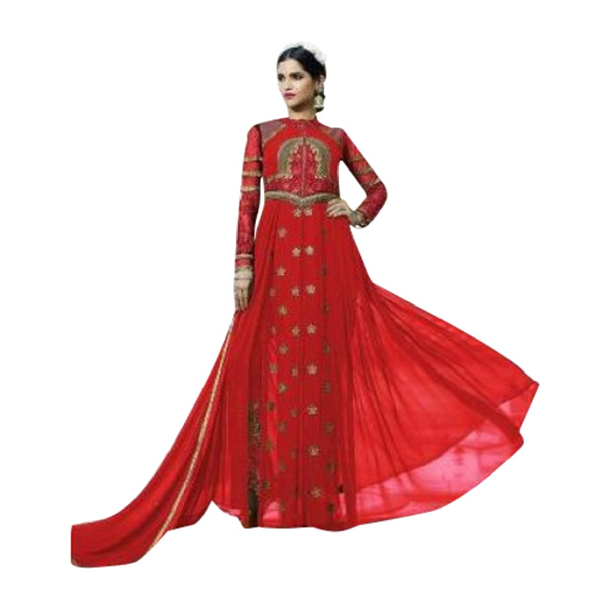Red Festival Bollywood Collection Anarkali Salwar Ceremony Punjabi Women suit 550