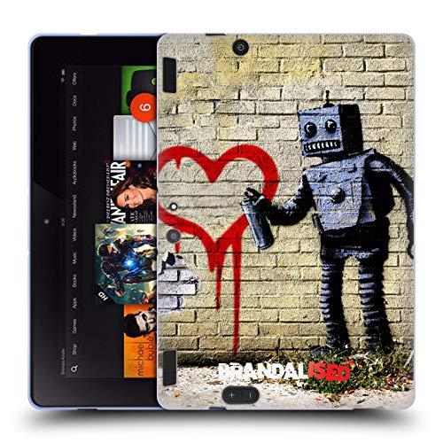 Official Brandalised Robot Banksy Art Street Vandals Soft Gel Case Compatible for Amazon Kindle Fire HDX 8.9 (Banksy Kindle Case)