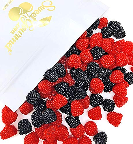 Haribo Black and Red Raspberry Gummi | Agar-Agar | Berry Gummy Candy Bulk | 3 pounds]()