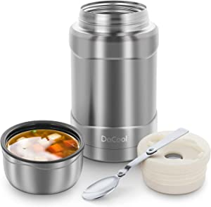 DaCool Hot Food Jar Insulated Lunch Containers 24 oz Food Thermos Vacuum Stainless Steel Keep Food Warm Container for Teenager Adults Men School Office Lunch Box Bento Leak Proof for Picnic Camping