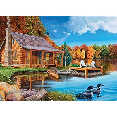 Cobblehill 57154 MO 1000 Loon Lake Puzzle, Various: Toys & Games