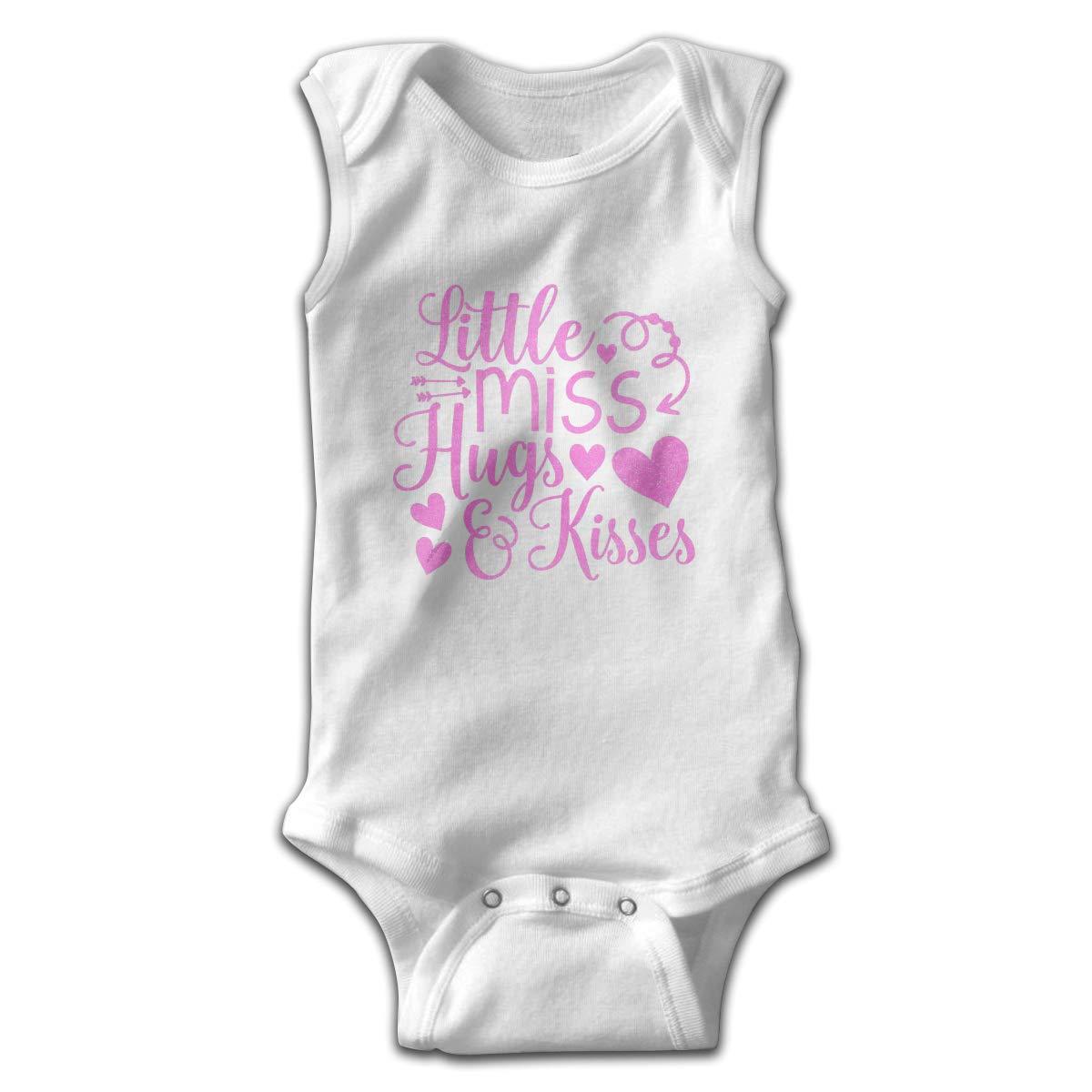 Toddler Baby Girls Rompers Sleeveless Cotton Onesie,Little Miss Hugs and Kisses Bodysuit Autumn Pajamas