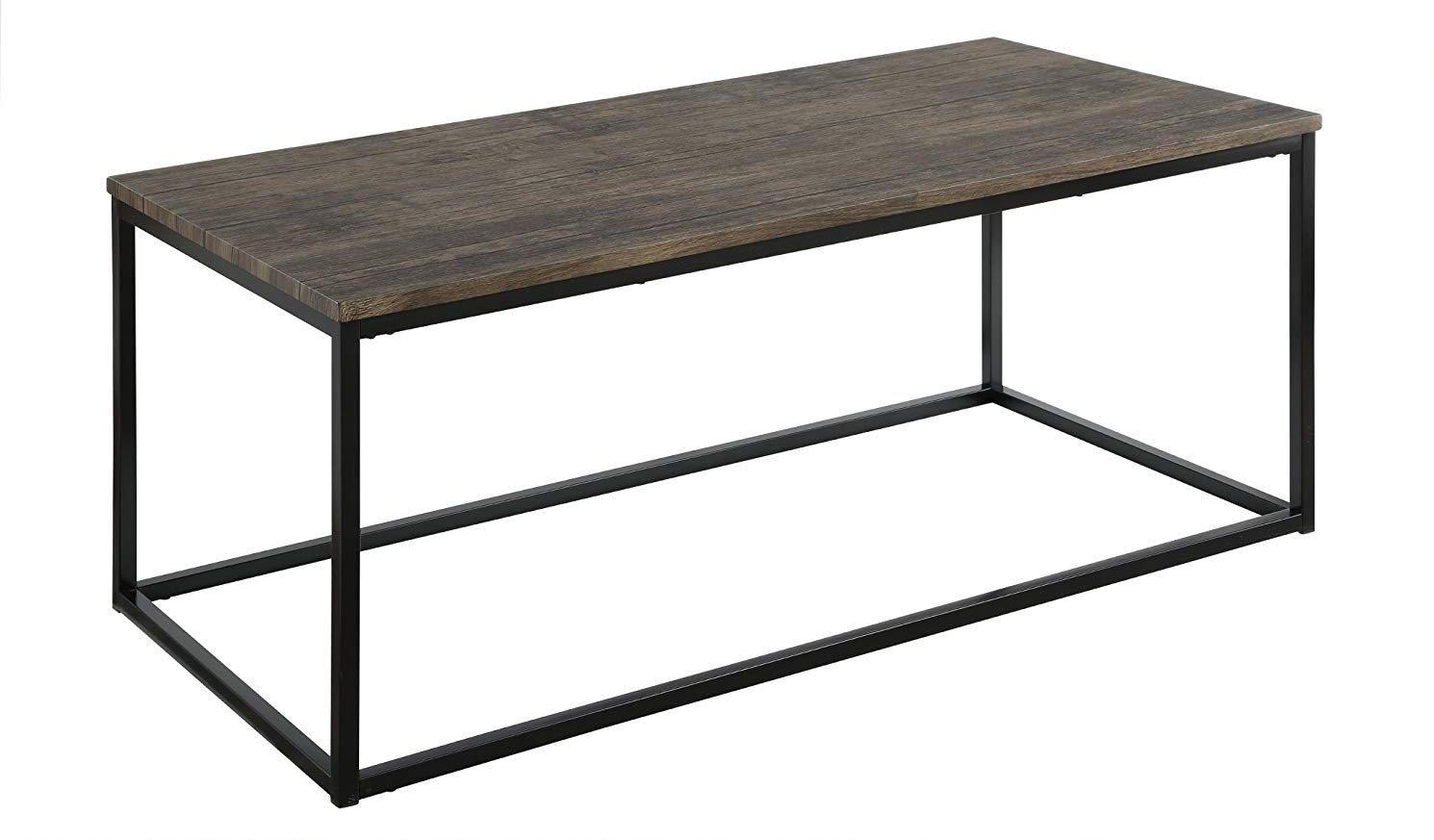Amazon com abington lane contemporary rectangular coffee table modern cocktail table sofa table for living room and office distressed pecan kitchen