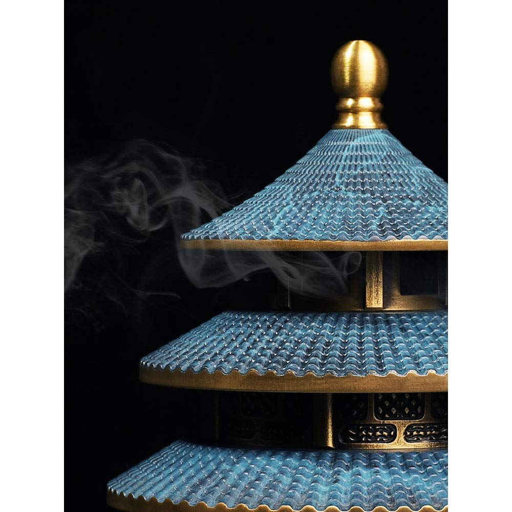 JYEMDV Vintage Incense Burner Pure Copper Antique Tower Household Censer Split Creative Aromatherapy Furnace by JYEMDV (Image #2)