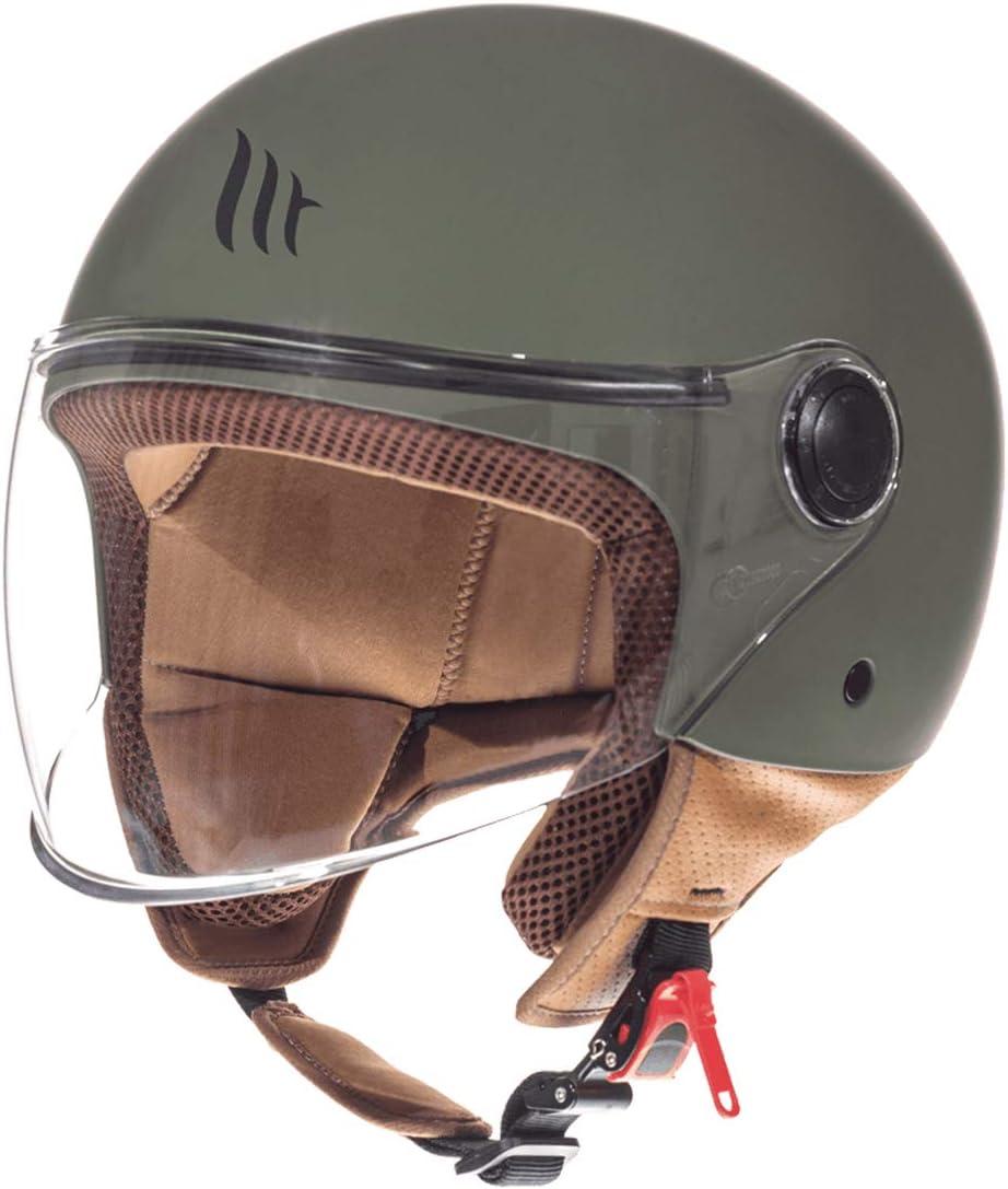 Entire wei/ß, XL MT Street Jet-Helm Motorrad-Helm Roller-Helm Scooter-Helm Bobber Mofa-Helm Chopper Retro Cruiser Vintage Pilot Biker ECE 22.05
