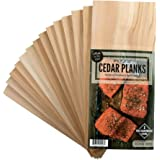 12 Cedar Grilling Planks for Salmon and More + 2 Hardwood Planks (Hickory)