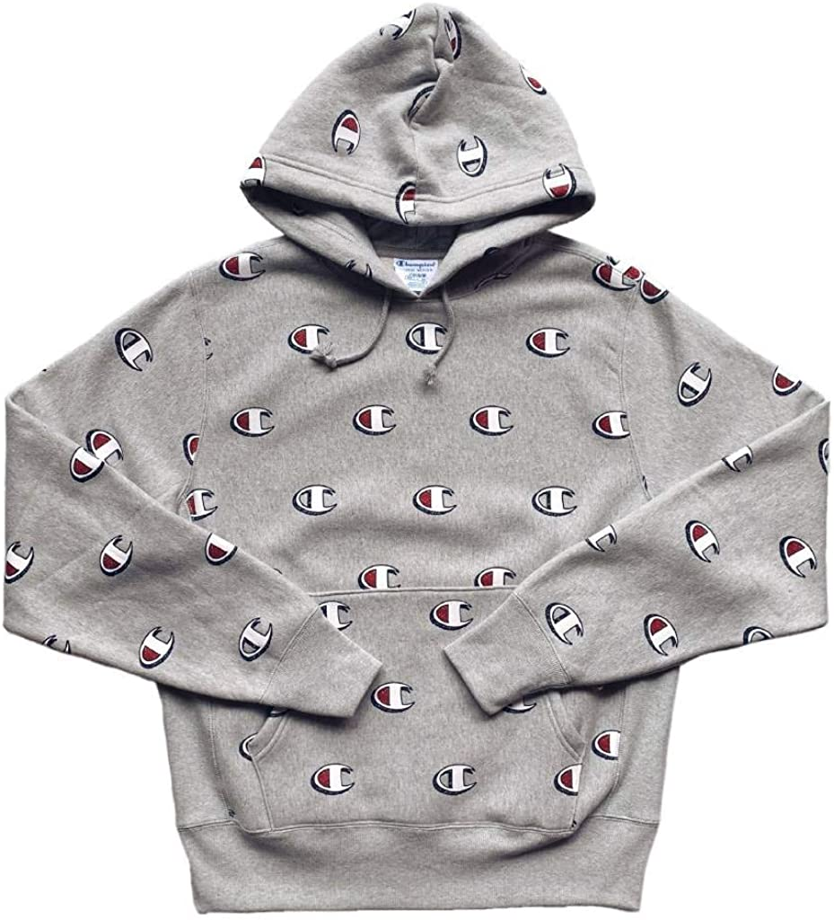 Champion Herren Reverse Weave Hoodie Allover Logo Print