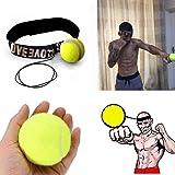 sunnymi Boxen Training Ball/Kampfball Mit Kopfband Für Reflex Speed Punch Übung/Gut Für Deine Gesundheit/Geeignet Für Kampf Sport: Boxen Kampf Gemischte Kampfkünste Kickboxen Muay Thai Taekwondo (Rot)