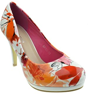 5b98a48fe2 Amazon.com   Gaorui Women Formal Evening Pumps Stilettos Peep Toe ...