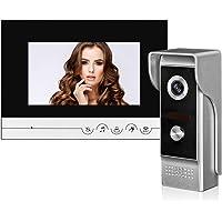 OBO HANDS 7'' TFT Color Wired Video Door Phone Intercom RFID Access System with Door Bell 700TVL Waterproof Keyfob…