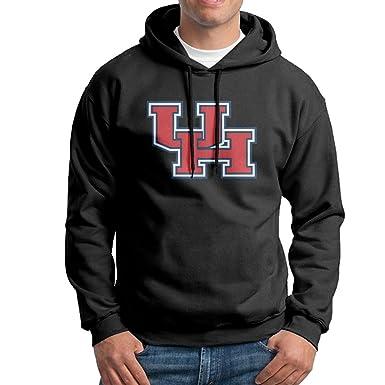 2c741280132 Amazon.com: EVALY Men's Geek University Of Houston Hooded Sweatshirt ...