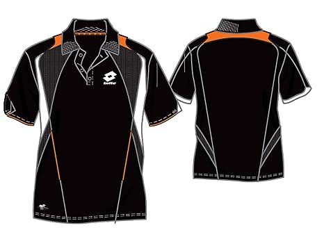 Lotto Epic - Polo para hombre, talla M (US), color negro/naranja ...