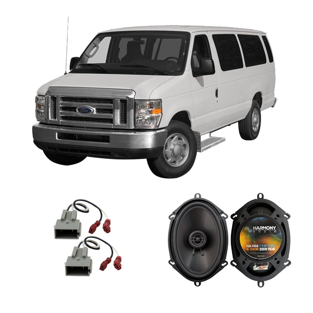 Fits Ford Econoline Full Size Van 97 13 Front Door Radio Wiring Factory Replacement Harmony Ha R68 Speakers Car Electronics