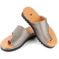 MAIKALUN Corrector de juanetes, Sandalias correctivas de Piel sintética Suave Que reducen el Dolor de juanetes por fricción para la Mujer, se Adapta a la mayoría de los pies