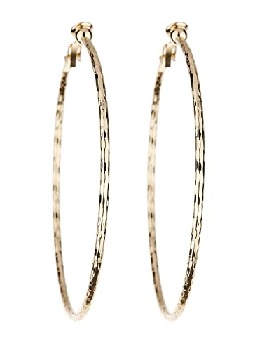Clip On Hoop Earrings - Gold Plated With Three Hoops - Delta by Bello London y9K1eqb