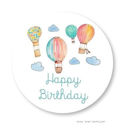 Amazon.com: Globos de aire caliente feliz cumpleaños ...