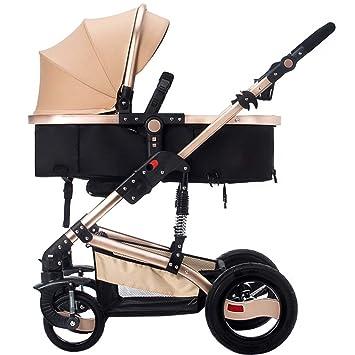 Carro de bebé Niño Paisaje de alta cochecito de bebé/ puede sentarse o mentir dobló