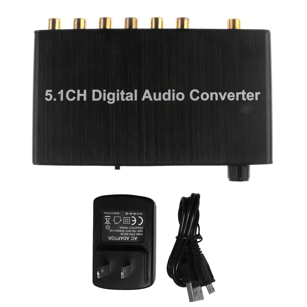 Homyl 5.1CH Audio Converter Decoder SPDIF Analog to RCA DTS AC3 Digital Adapter
