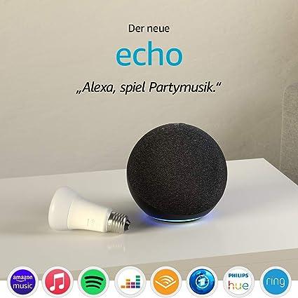 Der Neue Echo 4 Generation Anthrazit Philips Hue White Led Lampe Alle Produkte