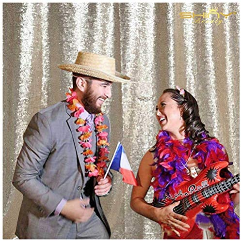 Champagne-Sequin Photo Backdrop-4FTX6FT Wedding Photo Booth, Photography Background -