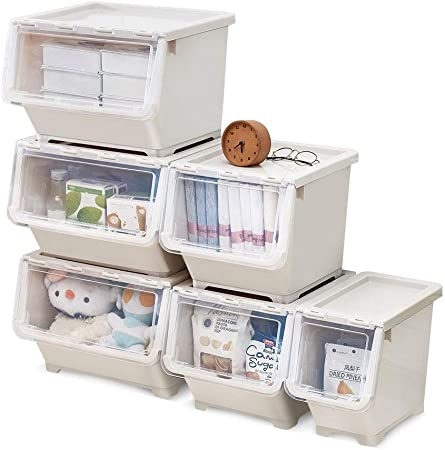 Caja almacenaje Sola Capa Ropa de almacenamiento Caja de almacenamiento caja de plástico caja de almacenamiento con las misceláneas ruedas Caja de almacenamiento (beige) cajas almacenaje plastico: Amazon.es: Hogar