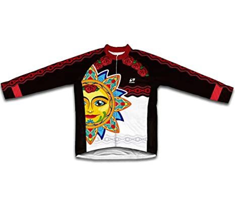 7681b145b Amazon.com   ScudoPro Mexican Sun Long Sleeve Cycling Jersey for Men ...
