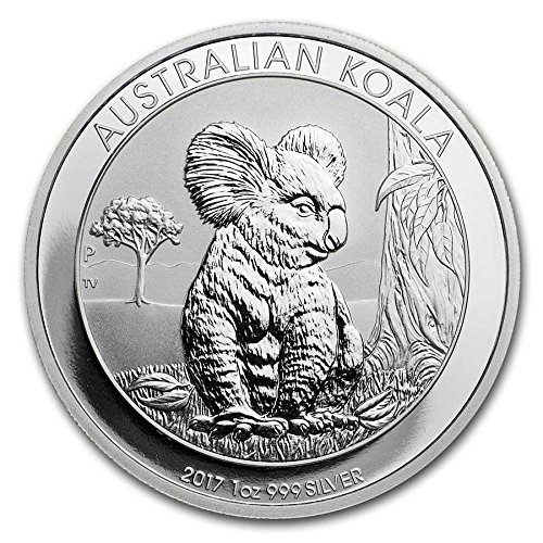 (2017 AU Australian Koala Coin from the Perth Mint One Ounce .999 Fine Silver Dollar Uncirculated Mint)