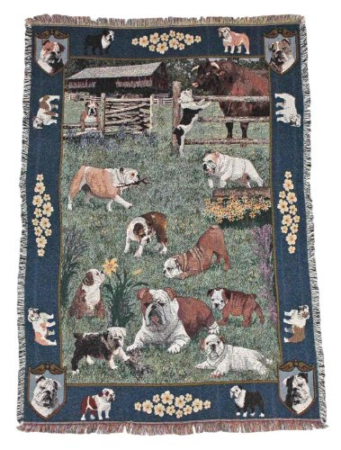 Gone Doggin English Bulldog Blanket Throw #1 - Exclusive Dog Breed Tapestry