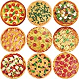 ceiba tree Pizza Stickers 200Pcs Roll Sticker for Halloween Party Supply Classroom Reward Sticker