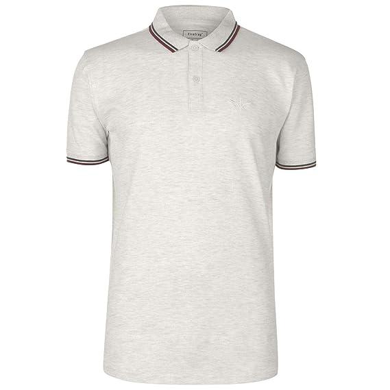 Firetrap Hombre Lazer Camiseta Polo Ceniza Marga L: Amazon.es ...